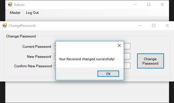 Advance Login System-Password Changed Successfully