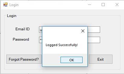 Advance Login System-frmLogin-Successfully