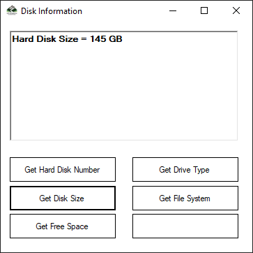 Get Hard Disk Size in C#